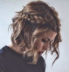 SHORT HAIR SHORT HAIRSTYLES FOR PROM Cute Short hairstyles Braided Hairstyles
