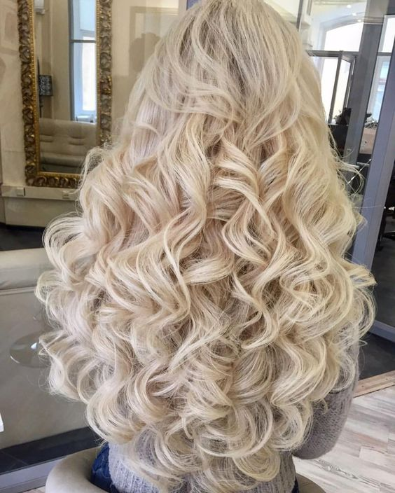 Hair long curls Hair Ideas Curls Waterfall Braids Prom Hairstyle curls colour wedding hairstyles half up half down curls and braid