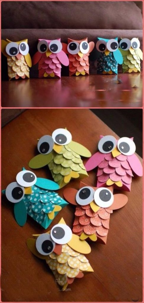 Craft Ideas,OWL CRAFT,TOILET PAPER ROLL CRAFTS,Paper Crafts,DIY,home decor,DIY gift, peper DIY,