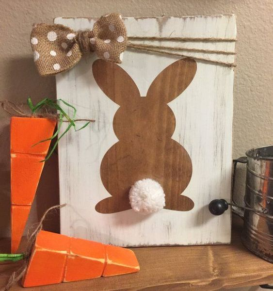 DIY Easter, DIY craft for Easter, EASTER DECOR,Easter decoration, Easter door hanger, Easter gift, wood sign,